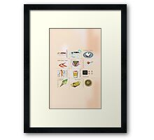 Japanese Food All in One Framed Print