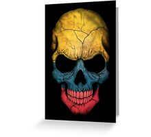 Colombian Flag Skull Greeting Card