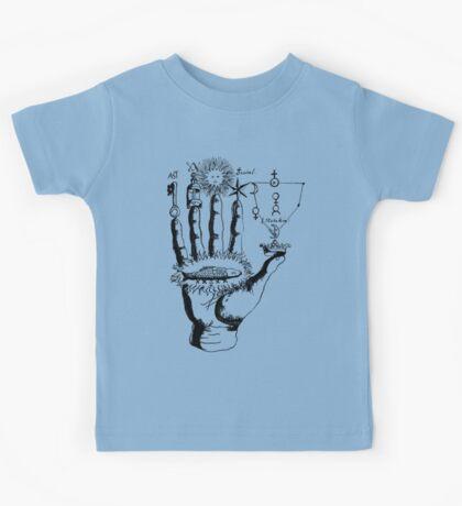Renaissance Alchemy Hand with Symbols Kids Tee