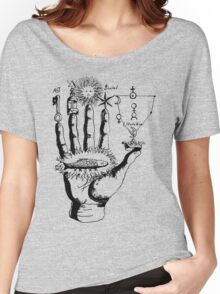 Renaissance Alchemy Hand with Symbols Women's Relaxed Fit T-Shirt