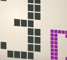 Glitch Music Blocks musicblock d blue 03 Sticker