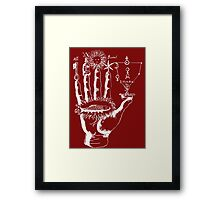 Renaissance Alchemy Hand with Symbols Framed Print