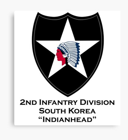 2nd Infantry with text Canvas Print