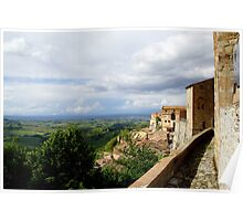 View from Montepulciano Poster