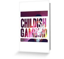 Childish Gambino Because the Internet Design Greeting Card