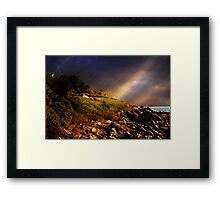 White Adirondacks Framed Print