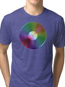 Vinyl LP Record - Metallic - Rainbow Tri-blend T-Shirt