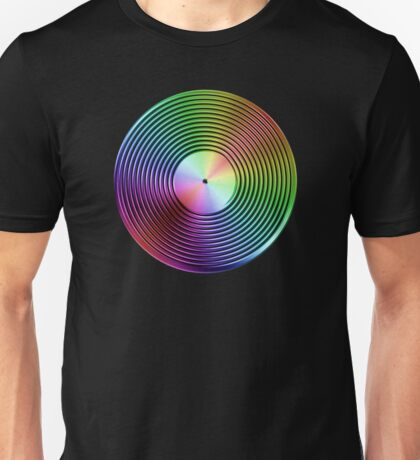 Vinyl LP Record - Metallic - Rainbow Unisex T-Shirt
