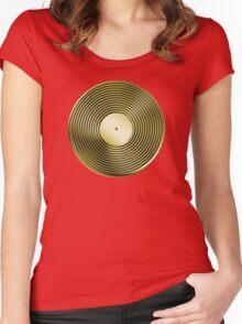 Vinyl LP Record - Metallic - Gold Women's Fitted Scoop T-Shirt
