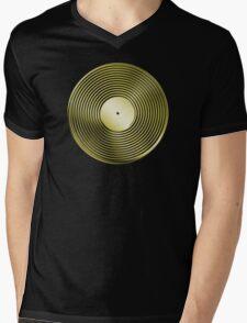Vinyl LP Record - Metallic - Gold Mens V-Neck T-Shirt