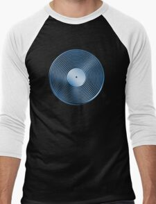 Vinyl LP Record - Metallic - Blue Men's Baseball ¾ T-Shirt
