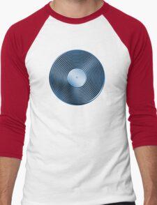 Vinyl LP Record - Metallic - Blue Men's Baseball ¾ T-Shirt