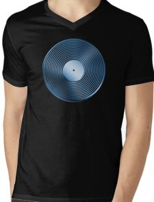 Vinyl LP Record - Metallic - Blue Mens V-Neck T-Shirt