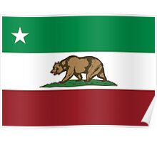 Mexican California Republic Flag Poster