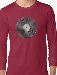 Vinyl LP Record - Metallic - Steel Long Sleeve T-Shirt