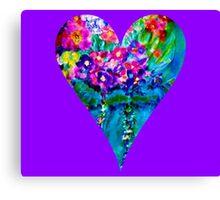 Floral Heart Designer Art Gifts Canvas Print