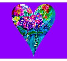 Floral Heart Designer Art Gifts Photographic Print
