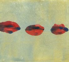 Monotype: Three Lips by Megan  Koth