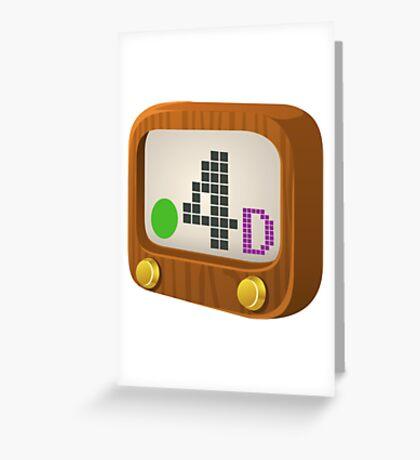Glitch Music Blocks musicblock d green 04 Greeting Card