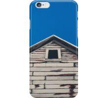 Corn crib and blue sky iPhone Case/Skin
