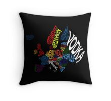 Drink Map - Europe Throw Pillow