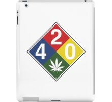 420 Caution Sign Fun iPad Case/Skin