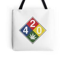 420 Caution Sign Fun Tote Bag
