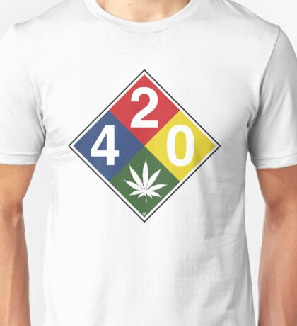 420 Caution Sign Fun Unisex T-Shirt