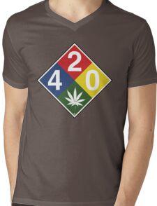 420 Caution Sign Fun Mens V-Neck T-Shirt
