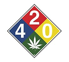 420 Caution Sign Fun Photographic Print