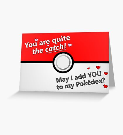 You Are Quite the Catch Gamer Valentine's Day Card Greeting Card