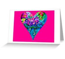 Pink Floral Heart Designer Art Gifts Greeting Card