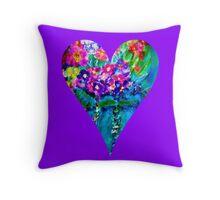 Floral Heart Designer Art Gifts Throw Pillow