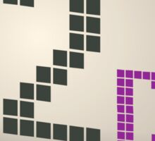 Glitch Music Blocks musicblock d red 02 Sticker