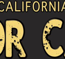 Nor Cal Old License Sticker