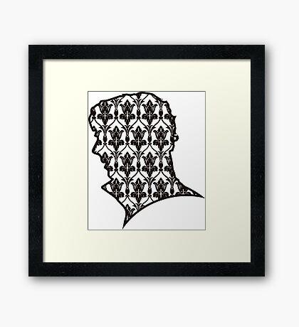 Sherlock - 221b Wallpaper Framed Print