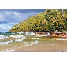 Autumn at Miners Beach, Pictured Rocks National Lakeshore Photographic Print