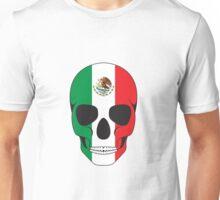 Mexican Flag Skull Unisex T-Shirt