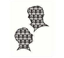 Sherlock Portraits - Wallpaper design Art Print