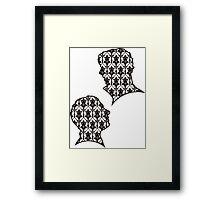 Sherlock Portraits - Wallpaper design Framed Print