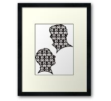 Sherlock Portraits - Wallpaper design Framed Print