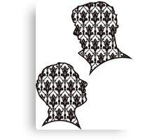 Sherlock Portraits - Wallpaper design Canvas Print