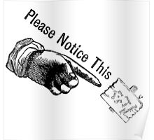 PLEASE NOTICE THIS....I don't give a.... Poster