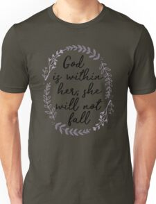 God is Within Her She Will Not Fall Unisex T-Shirt