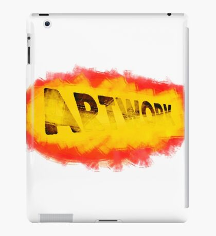 Artwork with brush paint iPad Case/Skin