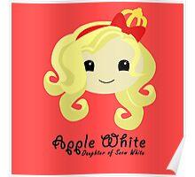 Apple White Poster