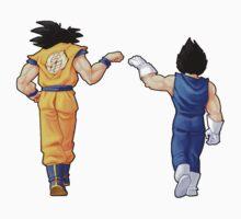 """Bros"" Goku and Vegeta Fist Bump Kids Tee"