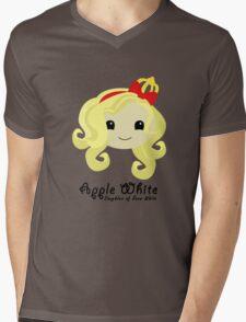 Apple White Mens V-Neck T-Shirt