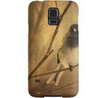 Backlit Birdie Being Buffeted Samsung Galaxy Case/Skin