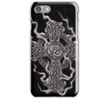 celtic cross with smoke  iPhone Case/Skin